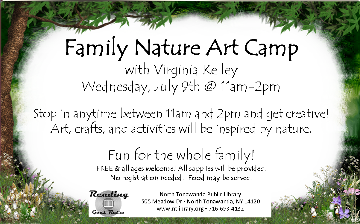 family nature art camp