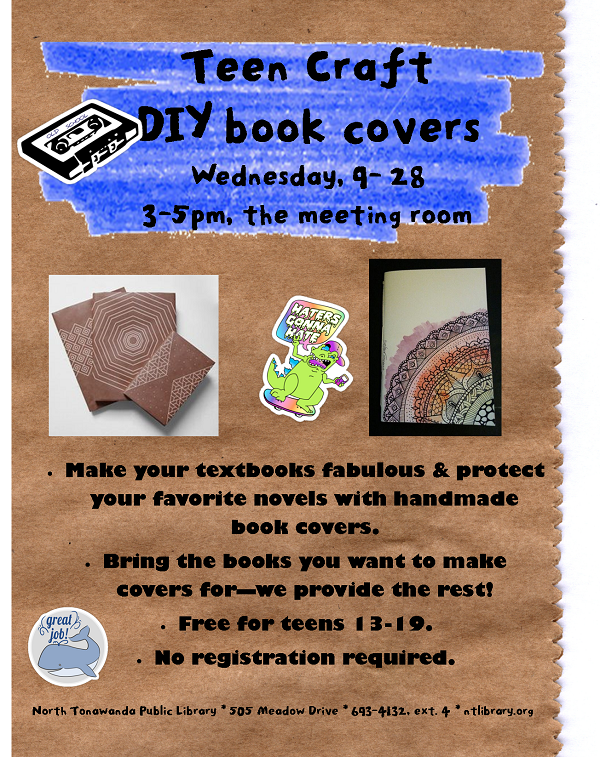Book Cover Craft Update : North tonawanda public libraryteen craft diy book covers