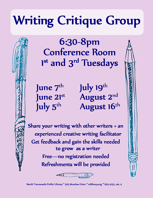 writing critique group summer 2016 online